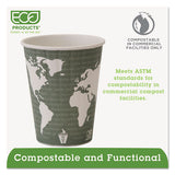 World Art Renewable And Compostable Insulated Hot Cups, Pla, 12 Oz, 40-packs, 15 Packs-carton