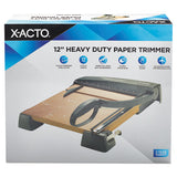 "Heavy-duty Wood Base Guillotine Trimmer, 12 Sheets, 12"" X 12"""