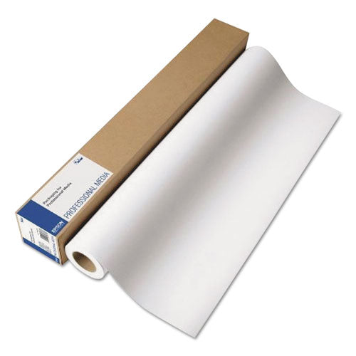 "Professional Media Metallic Photo Paper, 10.5 Mil, 16"" X 100 Ft, Gloss White"