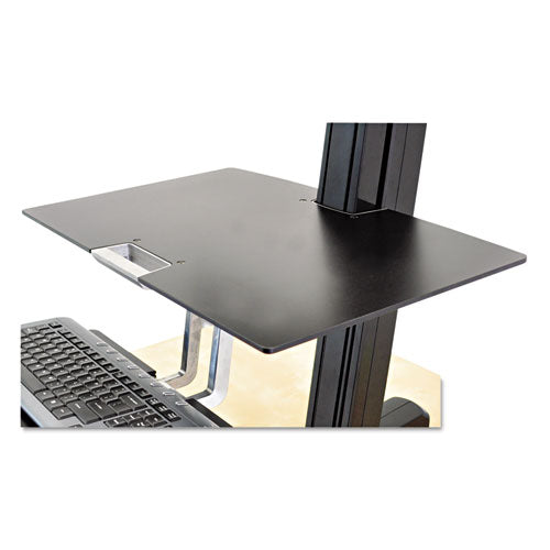 Worksurface For Workfit-s Workstations Without Worksurface, 23w X 15d, Black