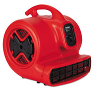 Dry Time Air Mover, 3758 Fpm, Red, 20 Ft Cord
