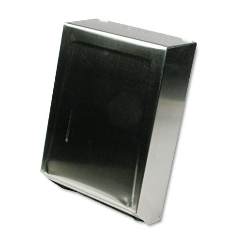 C-fold Or Multifold Towel Dispenser, 11.25 X 4 X 15.5, Stainless Steel