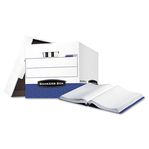 "Data-pak Storage Boxes, Letter Files, 13.75"" X 17.75"" X 13"", White-blue, 12-carton"