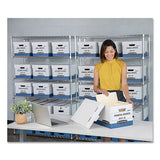 "R-kive Heavy-duty Storage Boxes, Letter-legal Files, 12"" X 16.5"" X 10.38"", White, 20-carton"