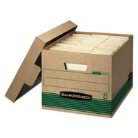 "Stor-file Medium-duty 100% Recycled Storage Boxes, Letter-legal Files, 12.5"" X 16.25"" X 10.25"", Kraft-green, 12-carton"