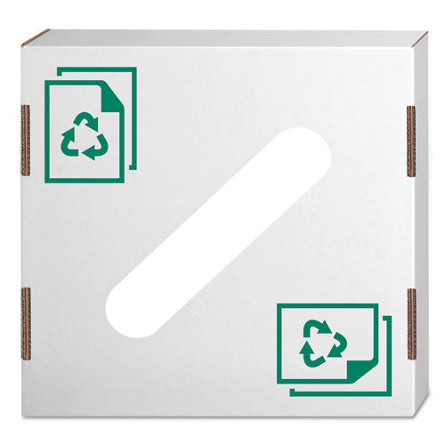 Waste And Recycling Bin Lid, Paper, White-green Print, 10-carton
