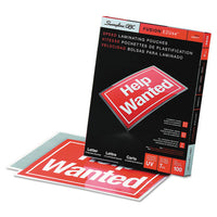 "Ezuse Thermal Laminating Pouches, 7 Mil, 9"" X 11.5"", Gloss Clear, 100-box"
