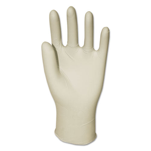 Latex General-purpose Gloves, Powdered, Medium, Clear, 4 2-5 Mil, 1000-carton