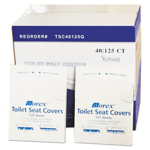 Quarter-fold Toilet Seat Covers, 14.5 X 16.5, White, 5,000-carton