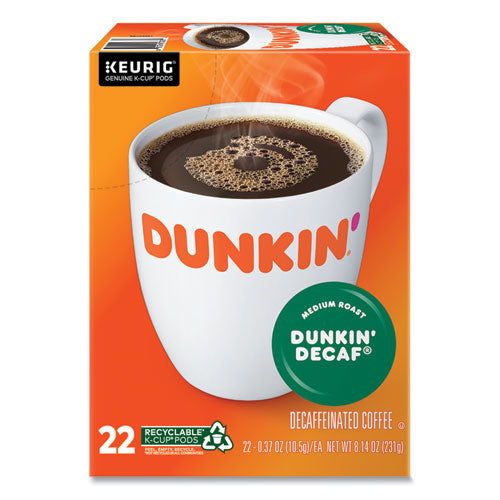 K-cup Pods, Dunkin' Decaf, 22-box