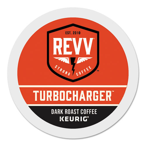 Turbocharger K-cup, Dark Roast, K-cup, 24-box