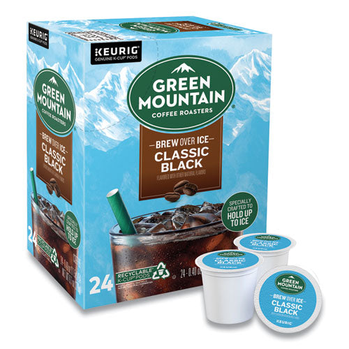 Classic Black Brew Over Ice Coffee K-cups, 24-box