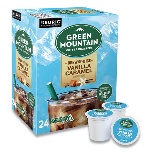 Vanilla Caramel Brew Over Ice Coffee K-cups, 24-box