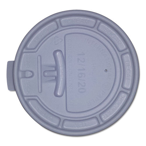 Plastic Lids For Eco-friendly Hot Cups, Lock Tab-flat, White, 1000-carton