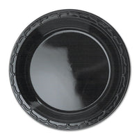 Silhouette Black Plastic Plates, 10 1-4 Inches, Round