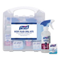 "Body Fluid Spill Kit, 4.5"" X 11.88"" X 11.5"", One Clamshell Case With 2 Single Use Refills-carton"