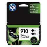 Hp 910, (3jb40an) Black Original Ink Cartridge 2-pack
