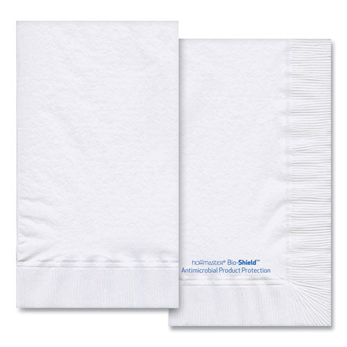 Bio-shield Dinner Napkins, 2-ply, 15 X 17, 4.25 X 7.5 Folded, White, 1,000-carton