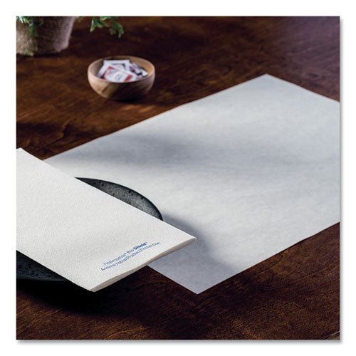 Solid Color Embossed Straight Edge Placemats, 10 X 14, White, 1,000-carton