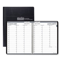 Recycled Two-year Professional Weekly Planner, 11 X 8.5, Black, 2021-2022