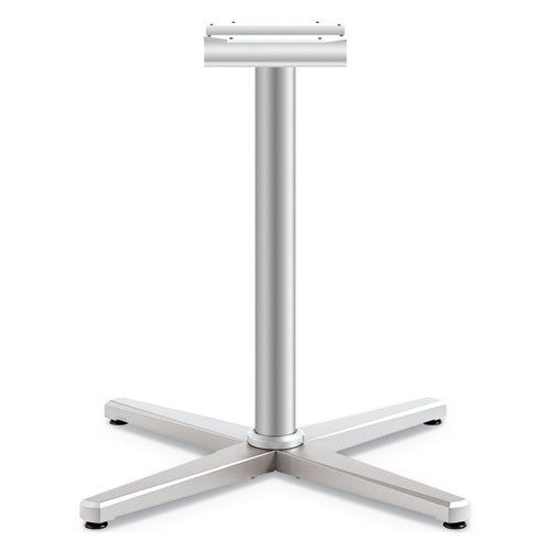 "Arrange X-leg Base For 42-48"" Tops, 32w X 32d X 28h, Silver"