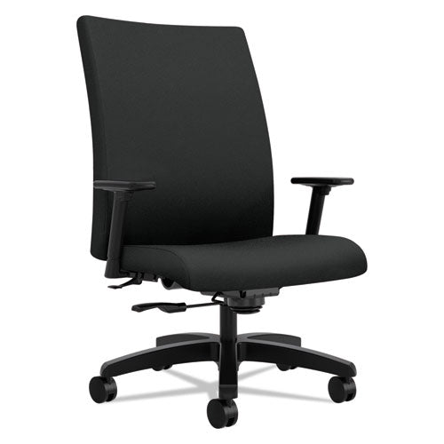Ignition Series Big And Tall Mid-back Work Chair, Supports Up To 450 Lbs., Black Seat-black Back, Black Base