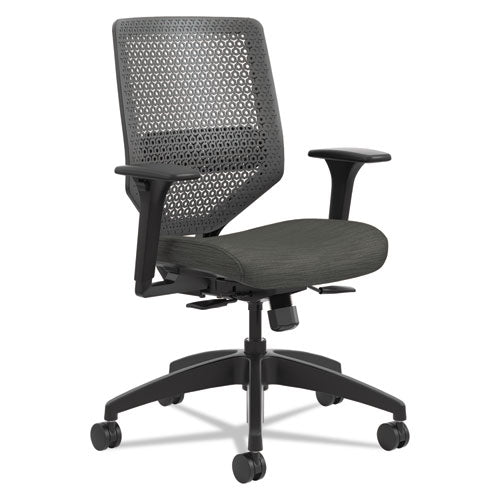 Solve Series Reactiv Back Task Chair, Supports Up To 300 Lbs., Ink Seat-charcoal Back, Black Base