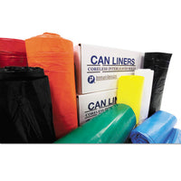 "Institutional Low-density Can Liners, 16 Gal, 1.3 Mil, 24"" X 32"", Red, 250-carton"