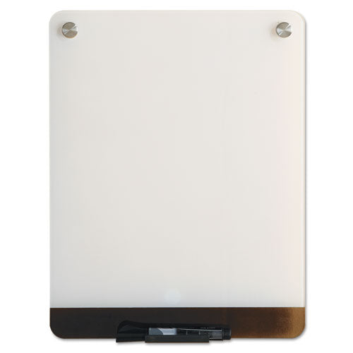 Clarity Glass Personal Dry Erase Boards, Ultra-white Backing, 12 X 16