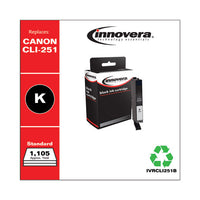 Remanufactured Black Ink, Replacement For Canon Cli-251 (6513b001), 1,105 Page-yield