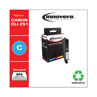 Remanufactured Cyan Ink, Replacement For Canon Cli-251 (6514b001), 304 Page-yield