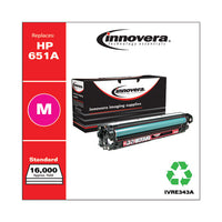 Remanufactured Magenta Toner, Replacement For Hp 651a (ce343a), 13,500 Page-yield