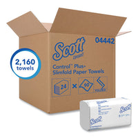 Control Slimfold Towels, 7 1-2 X 11 3-5, White, 90-pack, 24 Packs-carton