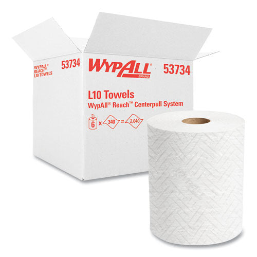Reach System Roll Towel, 1-ply, 11 X 7, White, 340-roll, 6 Rolls-carton