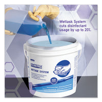 Wipers For The Wettask System, Quat Disinfectants And Sanitizers, 5.8 X 9, 250-roll, 6 Rolls-carton