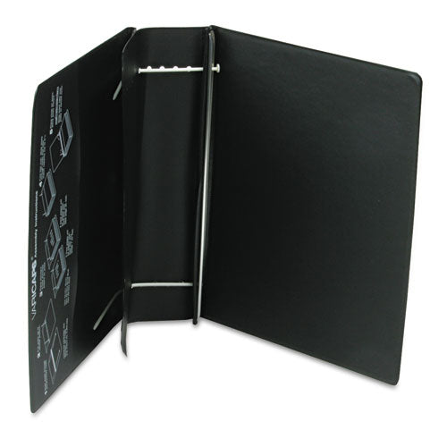 "Varicap Expandable Binder, 2 Posts, 6"" Capacity, 11 X 8.5, Black"