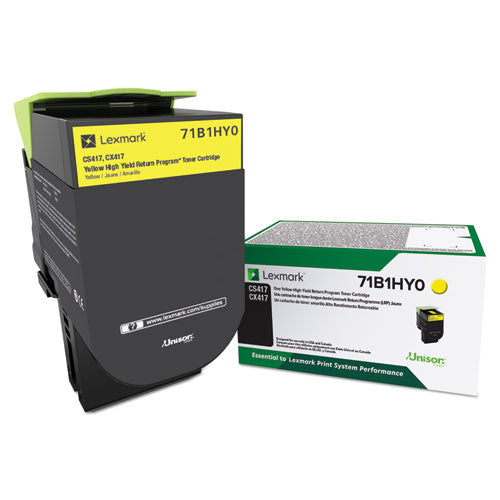 71b1hy0 Unison High-yield Toner, 3500 Page-yield, Yellow