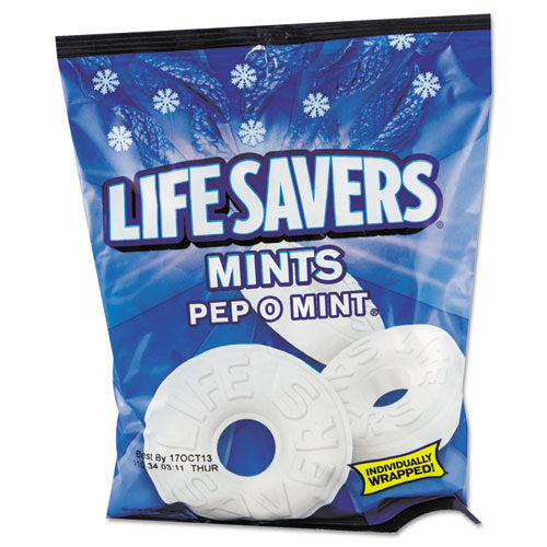 Hard Candy Mints, Pep-o-mint, Individually Wrapped, 6.25 Oz Bag
