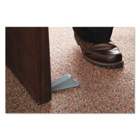 Big Foot Doorstop, No Slip Rubber Wedge, 2.25w X 4.75d X 1.25h, Gray