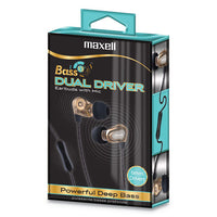 Dual Driver Earbuds With Mic, Gold