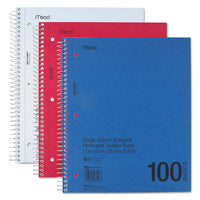 Durapress Cover Notebook, 1 Subject, Medium-college Rule, Assorted Color Covers, 11 X 8.5, 100 Sheets