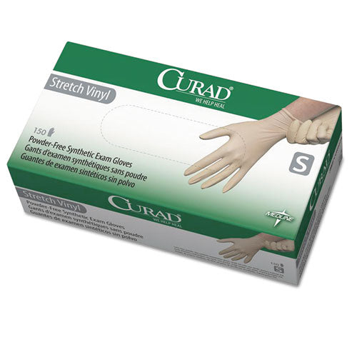 Stretch Vinyl Exam Gloves, Powder-free, Small, 150-box