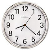 "Hamilton Wall Clock, 12"" Overall Diameter, Silver Case, 1 Aa (sold Separately)"