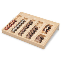 One-piece Plastic Countex Ii Coin Tray W-6 Compartments, Sand