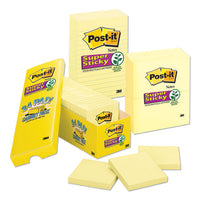 Canary Yellow Note Pads, 3 X 3, 90-sheet, 24-pack