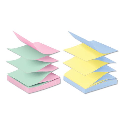 Original Pop-up Refill, Alternating Marseille Colors, 3 X 3, 100-sheet, 12-pack