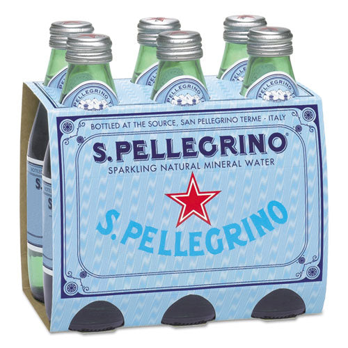 Sparkling Natural Mineral Water, 8 Oz Bottle, 24-carton