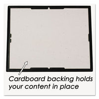Ez Mount Document Frame-accent, Plastic Face, 8 X 10, Black-gold