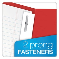 "Twin-pocket Folders With 3 Fasteners, Letter, 1-2"" Capacity, Red, 25-box"