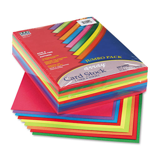 Array Card Stock, 65lb, 8.5 X 11, Assorted Lively Colors, 250-pack